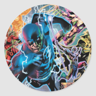 Blackest Night Comic Panel - Color Classic Round Sticker