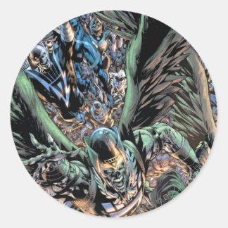 Blackest Night Group Painting - Color Round Sticker