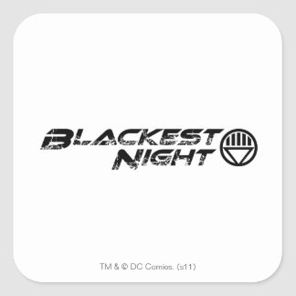 Blackest Night Logo Square Sticker