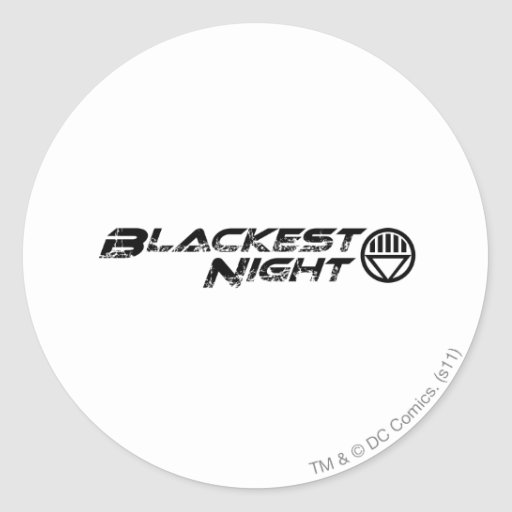 Blackest Night Logo Round Stickers