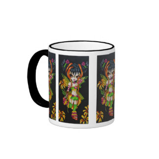 Blackeyed Susie Fantasy Goth Fairy Art Mug