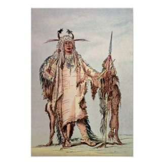 Blackfoot Indian Pe-Toh-Pee-Kiss, The Eagle Ribs Poster