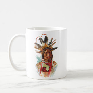 Blackfoot Sioux Chief: Many Horns Coffee Mug