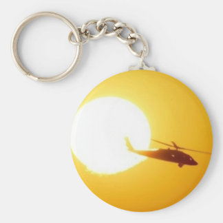 BLACKHAWK SUNSET BASIC ROUND BUTTON KEYCHAIN
