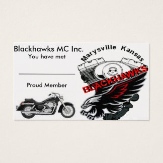 Blackhawks MC Business Card