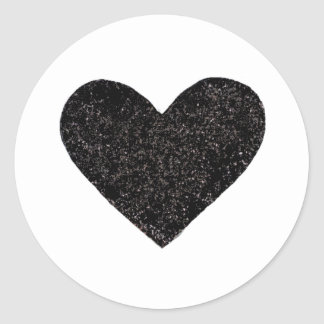 BlackHeart Classic Round Sticker