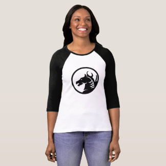 BlackHorse Womens 3/4 Sleeve T-Shirt