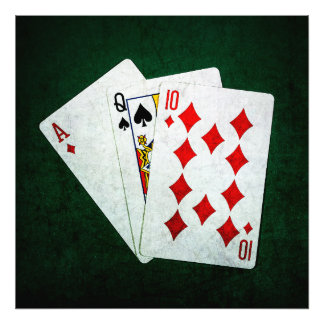 Blackjack 21 point - Ace, Queen, Ten Photograph