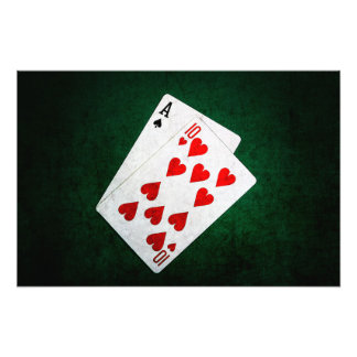 Blackjack 21 point - Ace, Ten Photo Print