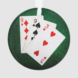 Blackjack 21 point - Nine, Nine, Three Ornament