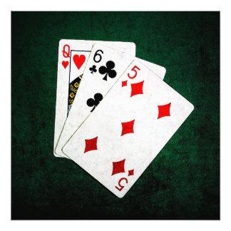 Blackjack 21 point - Queen, Six, Five Photograph