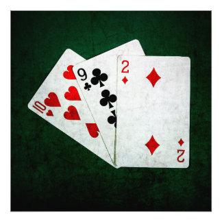 Blackjack 21 point - Ten, Nine, Two Photograph