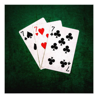 Blackjack 21 - Seven, Seven, Seven Photograph