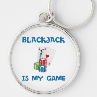 BLACKJACK IS MY GAME KEYCHAIN