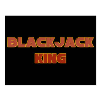 Blackjack King Postcard
