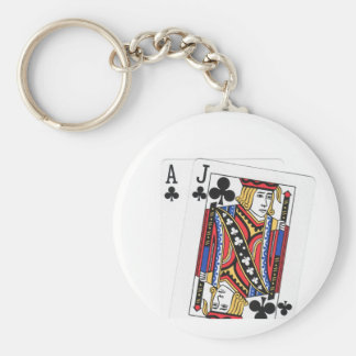 Blackjack Players Lucky Keychain
