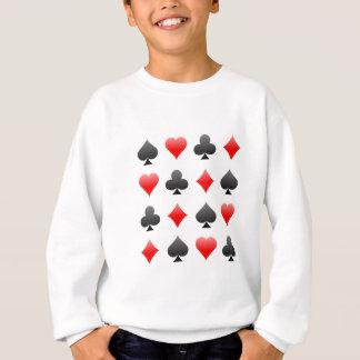 Blackjack / Poker Card Suits: Vector Art: Sweatshirt
