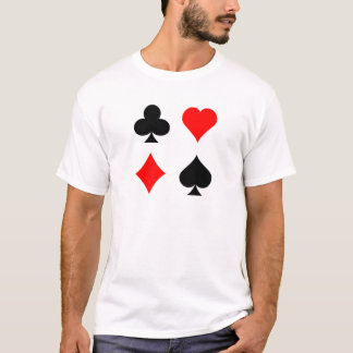 Blackjack / Poker Card Suits: Vector Art: T-Shirt