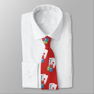 Blackjack Poker Cards And Chips Necktie