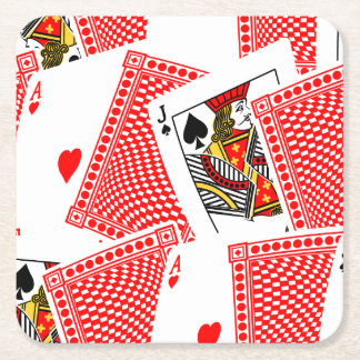 Blackjack Square Paper Coaster