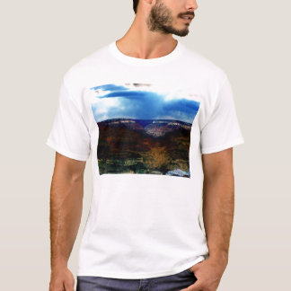 Blacklight Grand Canyon and Falling Rain by KLM T-Shirt