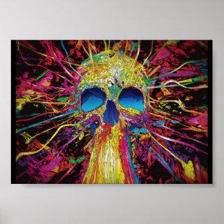 Blacklight poster skull