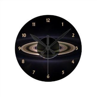 Blacklit Saturn Round Clock