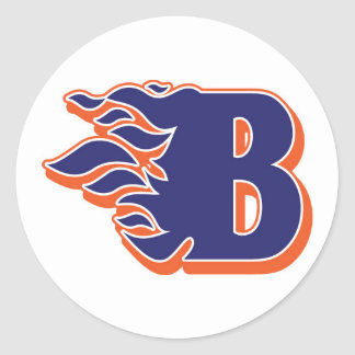 Blackman Blaze Youth Football and Cheerleading Classic Round Sticker