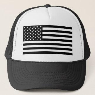 Blackout American Flag Trucker Hat