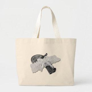 BlackPistolGarterBelt102811 Large Tote Bag