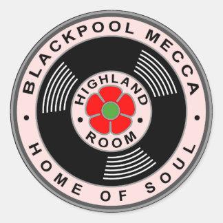 Blackpool Mecca - Home of Soul Round Sticker
