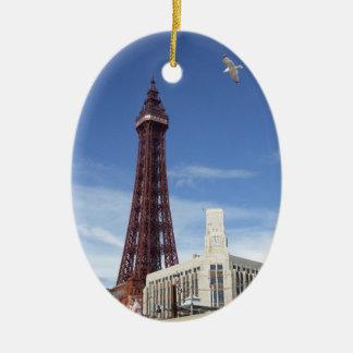 Blackpool Tower Ceramic Oval Ornament
