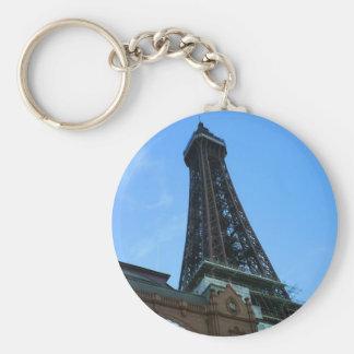 BlackpoolTower Basic Round Button Keychain