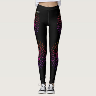 blackretro leggings