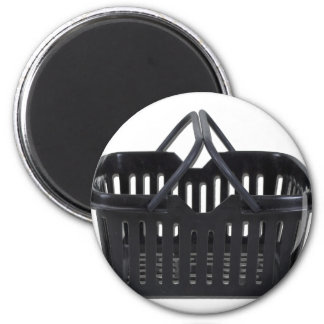 BlackShoppingBasket110511 2 Inch Round Magnet