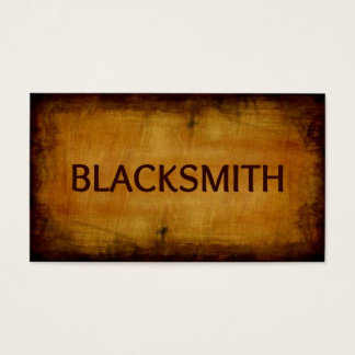 Blacksmith Antique Brushed Business Card