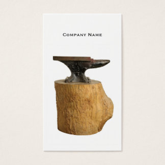 Blacksmith Anvil Business Card Template