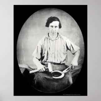 Blacksmith Daguerreotype 1853 Poster