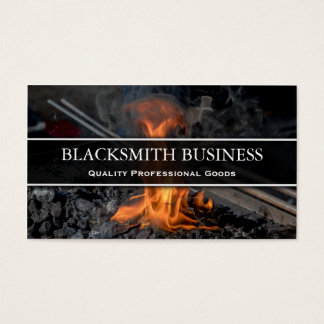 Blacksmith Forge Photo Business Card