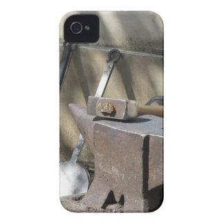 Blacksmith hammer resting on the anvil iPhone 4 Case-Mate cases