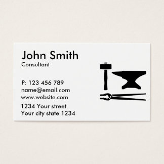 Blacksmith tools business card