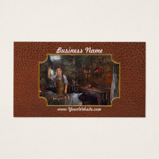 Blacksmith - Working the forge Business Card