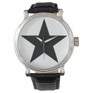 Blackstar - Leather B (Men - Women) Watch