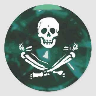 BlackStitch-Emerald Round Classic Round Sticker