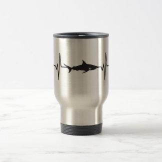 Blacktip Shark - Heartbeat Pulse Graphic Travel Mug