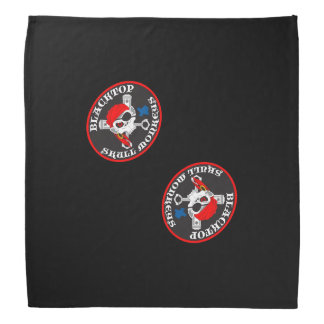 Blacktop Skull Monkey Large Logo on Bandana