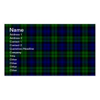 Blackwatch tartan Campbell clan Business Card