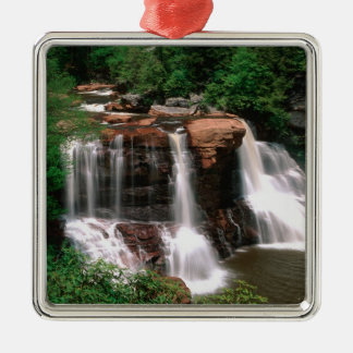 Blackwater Falls, West Virginia, scenic, Silver-Colored Square Ornament