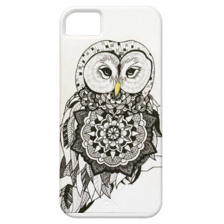Blackwork Owl Phonecase Case For The iPhone 5