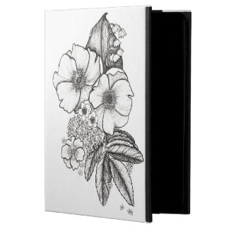 Blackwork Wild Roses iPad Case